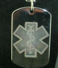 Medical alert  Dog Tag Pendant Necklace Copy 2