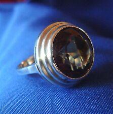 Schöner Rauchquarz Ring aus 835 er Silber Fingerring Fingerschmuck / Art. gg 063