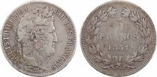 5 francs Domard 1er type tranche relief, Louis Philippe Ier, 1831 Limoges - 89