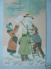3892 Ak Muñeco de Nieve Niños PC Snowman 31.12.1903 CPA