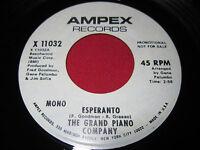 SOUL PROMO 45 THE GRAND PIANO COMPANY - ESPERANTO - AMPEX 11032