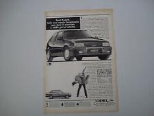 advertising Pubblicità 1990 OPEL KADETT GSI 16V