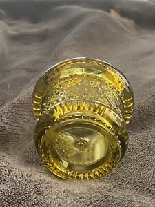 toothpick holder (2) - Indian Head and Gold glass