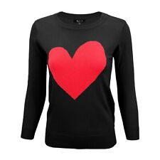YEMAK Women's Love Heart Chenille Crewneck 3/4 Sleeve Casual Sweater MK3595