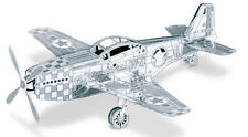 3-D Laser Cut Model - P-51 Amazingly Detailed DIY Model METAL MARVEL-P51