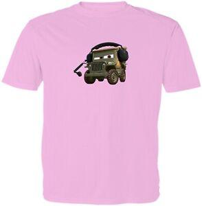 Cars Sarge Kids Girls Boys Youth Video Game Cartoon T-Shirt