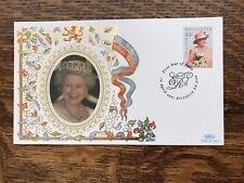 2001 Australia Benhan Silk Cover, QEII,75th Birthday, Mint Condition