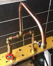 Hand Made Vintage Copper Cloak room Basin Belfast Tap Bathroom Butler
