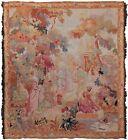 Rare Antique French Tapestry Handmade Tapestry Verdure Tapestry Handwoven 4x5