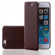 Numia Echt Leder Handy Tasche Samsung N7100 Galaxy Note 2 Braun Flip Cover Etui