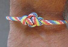 Rainbow Thong Paracord ETERNITY BRACELET - Adjustable Wristband - LGBT Pride
