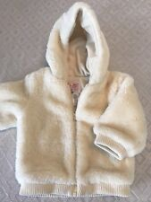 Baby girls Old Navy soft fuzzy cream coat/jacket sz 18–24 M! Excellent Condition