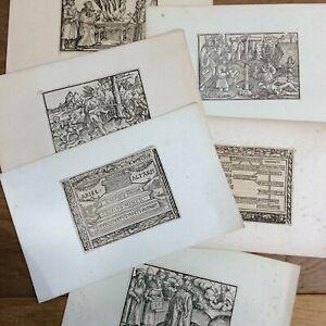 ARIEL ALTARIS Vulgate Gravures Anciennes Marion & Koberger 1520 Bible Ezekiel
