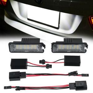 LED License Number Plate Light Bulb For VW Touran Golf Passat Jetta Caddy T5 2pc