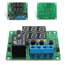 DC12V Double Digital LED Cycle Timing Delay Time Timer Relay Module