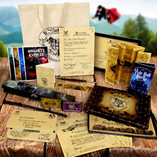 PERSONALISED HARRY POTTER CHRISTMAS GIFT SET! WAND QUILL ETC, MAGICAL PRESENT !