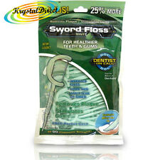 Dentemp Sword Floss Disposable Daily Tooth Dental Floss & Picks Mint 50 ea