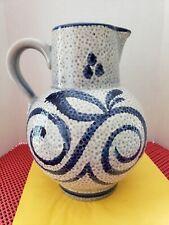 Scheurich Fat Lava Pottery Pitcher Vase Mid-Century Modern 478-20 W. Germany