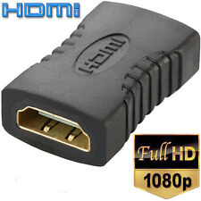 Black HDMI Female to Female F F Coupler Extender Adapter Connector for HDTV HDCP