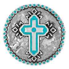 """Ginger Snapsâ""""¢ Turquoise Silver-Tone Cross Jewelry Buy 4, Get 5Th$ 6.95 Snap Free"""