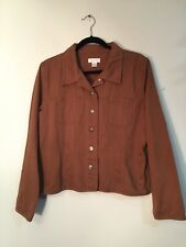 Christopher & Banks - Brown 100% Cotton Jean Style Jacket Long Sleeves Size L