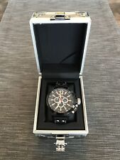 TW Steel Men's CE1033 CEO Canteen Black Leather Chronograph Dial Watch