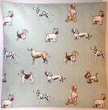 "Clarke & Clarke Best Of Show Dog Duck Egg 16"" Cushion Cover"