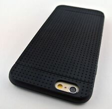 """BLACK PREMIUM DELUXE TPU GEL DOTS DIMPLE CASE COVER FOR APPLE IPHONE 6 6S 4.7"""""""