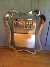 Antique Vintage Cut Glass Bedroom Decorative Boudior Wall Mirror