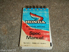 1982-1986 82 86 1 Motorcycle Atv Scooter Service Specifications Spec Book Manual
