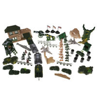 300pcs Plastic Military Playset Toy Soldiers Army Figures Vehicle Tank Model