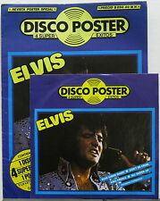 """ELVIS PRESLEY Disco Poster 1985 MEXICO Only 7"""" 45rpm EP + POSTER Promo MINTY!"""