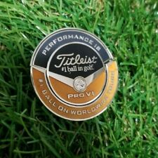 Titleist Golf Japan TWIN Ball Marker Yellow Gold Black Limited