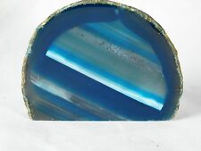 "AG18 Agate Crystal Green Geode Free Standing Great Gift Home Art Décor 4.5"" 471g"
