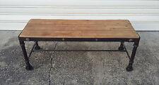 Superbe table basse industrielle métal et bois