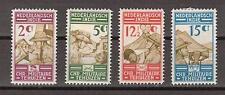 Nederlands Indie Indonesie 217-220 MLH Militaire bond Netherlands Indies 1935