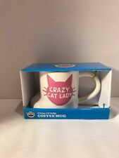 CRAZY CAT LADY Coffee Mug - Funny Cat Novelty Mug, Gift idea for Cat Lover...