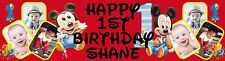 First (1st) Birthday Banner Poster Personalized with your photo