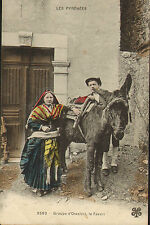 postcard early 1900s - les pyrenees - groupe d'ossalois le favori