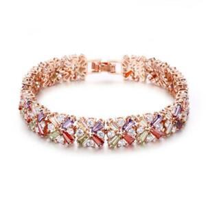 Shine Stars Rainbow Amethyst Peridot Garnet Morganite Topaz Ros Gold Bracelets