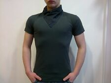 RELIGION - V Neck Insert T-shirt in Washed Black
