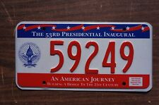 1997 Washington DC 53rd Inaugural President District of Columbia License Plate