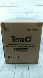Tetra Pond PRF1500 New in box Pressure Filter UV Clarifer Not Included