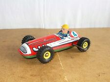 vintage tin toy - ZH 520 western germany - wind up RACE CAR RACER - 60s
