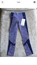 Ivivva Size 8 Free To Train Pant Purple WEEM/DKIR Luxtreme Athletic Tight Mesh