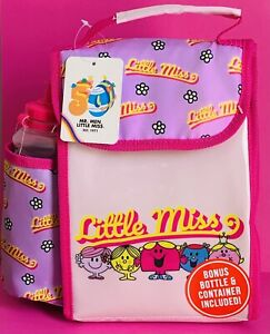 Little Miss Mr Men Lunch Bag And Bottle New Tagged
