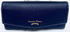 Samantha Thavasa Deep Blue Long Wallet W Tiny Gold Sparkles, Mint!!!
