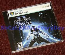 Star Wars: The Force Unleashed II (PC-DVD) BRAND NEW & SEALED jedi 2  starkiller