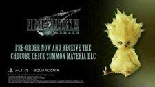 Final Fantasy VII Remake Chocobo Chick DLC North America (PS4, please read)