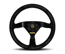 """MOMO Steering Wheel Mod 69 Black Suede 350mm + Free MOMO Suede Brush """"US Dealer"""""""